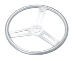 "UNCOATED 15"" FLAT STEERING WHEEL"
