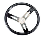 "11""  FLAT ALUMINUM STEERING WHEEL"