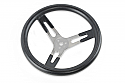 "17"" DISHED STEERING WHEEL W/ LARGE GRIP"