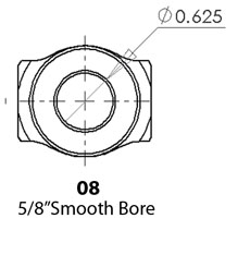 """SWEET 401-50606 U-Joint 3//4/"""" Smooth X 3//4/"""" Smooth"""